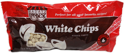"Vegan ""White Chocolate"" Chips by Paskesz"