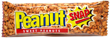 Peanut Snap Sweet Peanut Brittle Bar