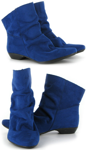 Pixie Boot by Vegetarian Shoes  Blue