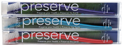 Recycled Toothbrushes by Preserve