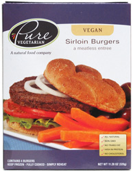 Vegan Sirloin Burgers by Pure Vegetarian