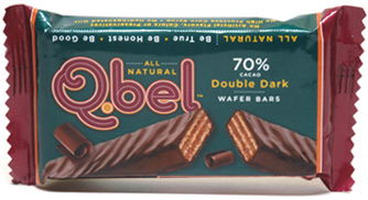 Q.bel Double Dark Chocolate Wafer Bars