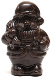 Small Chocolate Santa by Rose City Chocolatier