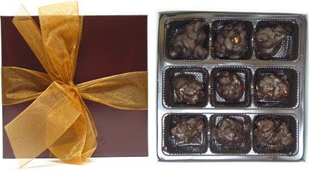 9-Piece Chocolate & Nuts Collection by Rose City