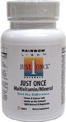 Just Once 1-A-Day Multi-Vitamin with Iron by Rainbow Light