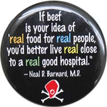 """Real Food for Real People"" Magnet"