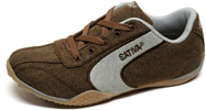 Womens Hemp Trainer by Sativa  Brown