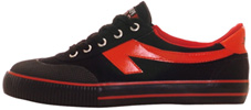 Scaffold Sneaker by The Peoples Shoe  Black/Red