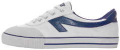 Scaffold Sneaker by The Peoples Shoe  White/Blue