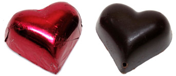 Sjaak�s Organic Hearts of Cherry Chocolate Truffles
