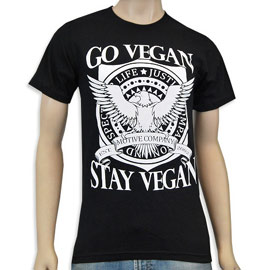 Go Vegan – Stay Vegan T-Shirt by Motive Company