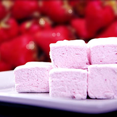Strawberry Marshmallows by Sweet & Sara