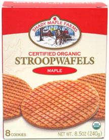 Organic Maple Waffle Cookies by Shady Maple Farms