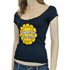 Veganism Sunflower Women&#8217;s Wide Neck T-Shirt by Motive Company