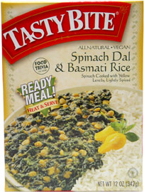 Tasty Bite Spinach Dal & Basmati Rice Heat & Serve Ready Meal