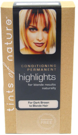 Natural Blonde Permanent Highlights for Dark Brown to Blonde Hair by Tints of Nature
