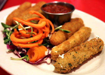 Breaded Teese Cheese Mozzarella Sticks by Chicago Soydairy