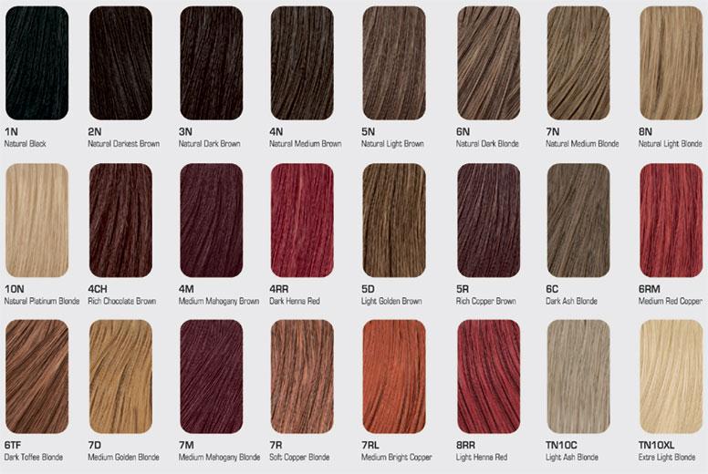 Ash Color Hair Chart