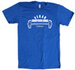 Vegan Bodybuilding &amp; Fitness T-Shirt - Blue