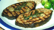 Grilled Vegan Mahi Mahi Steak by Veggie Brothers