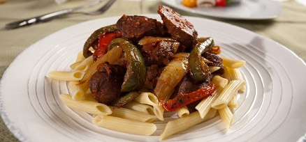 Italian Sausage & Peppers with Red Sauce by Veggie Brothers