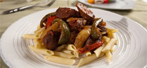 Italian Sausage &amp; Peppers with Red Sauce by Veggie Brothers