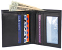 Traveler Bi-Fold Wallet by The Vegan Collection &#8211; Black