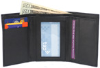 Tri-Fold Wallet by The Vegan Collection  Black