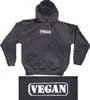 Vegan Oval Design Hooded Sweatshirt
