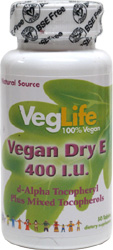 Vegan Dry E 400iu Tablets by VegLife