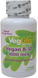 Vegan B-12 Lozenge with Folic Acid by VegLife