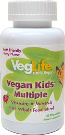VegLife Vegan Kids Multiple Vitamin and Mineral