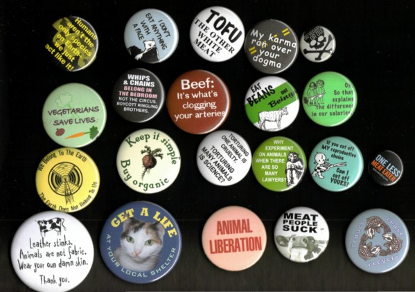 Vegan Message Buttons