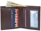 Bi-Fold Wallet by The Vegan Collection  Brown