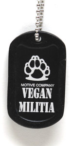 Vegan Militia Dog Tag by Motive Company