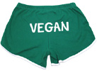 "Womens ""Vegan"" Running Shorts by VeganBodybuilding.com"