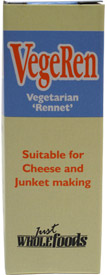 VegeRen Vegan Rennet Substitute by Just Wholefoods