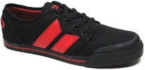 Wallister Sneaker by MacBeth Footwear � Black / Blood Red