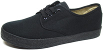 Wayne Sneaker by Draven  Black Canvas