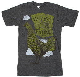Wings Are For Flying Not Frying Unisex T-Shirt by Herbivore