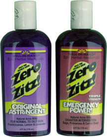Zero Zitz Washes and Astringents from Well-In-Hand