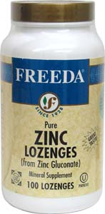 Natural Zinc Lozenges by Freeda