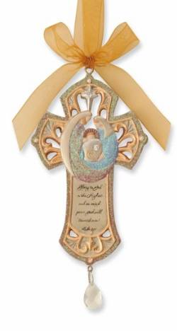 Holy Family Cross Ornament