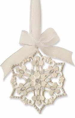 Cross Snowflake Ornament