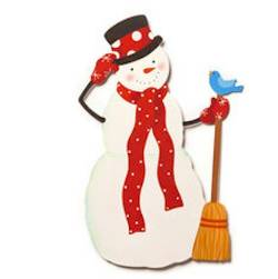 Snowman with Red Scarf Magnet