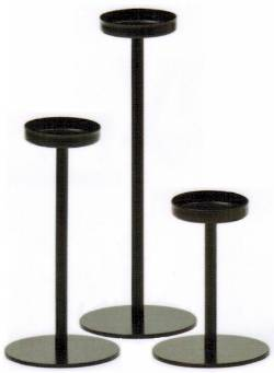 Black Tealight Candleholder Set