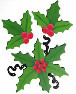 Holly Leaf Magnets