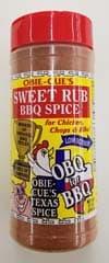 Obie-Cue Sweet Rub BBQ Spice 12 OZ Shaker