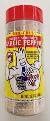 Obie-Cue Double Strength Garlic Pepper 15.3 OZ Shaker