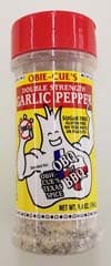 Obie-Cue Double Strength Garlic Pepper 5.4 OZ Shaker